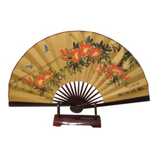 Vintage Hand Painted Chinese Fan