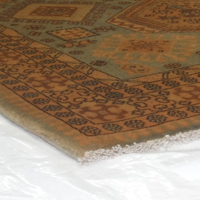 "2010s Leon Banilivi Persian Blue Kashkuli Rug - 3'5"" x 5'4"" For Sale - Image 5 of 5"