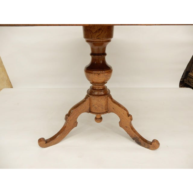 19th Century 19th C. Italian Inlaid Walnut Center Hall Table For Sale - Image 5 of 7