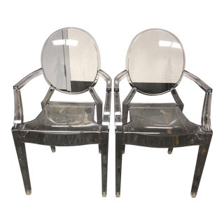 Kartell Louis Ghost Chairs - a Pair