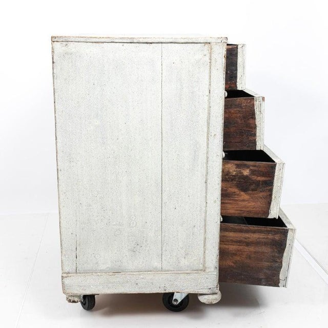 Late 19th Century 1890s Painted French Commode For Sale - Image 5 of 8