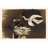 "Image of ""Bird Returning to Its Nest"" Original Lithograph by Georges Braque From ""Derriere Le Miroir No. 85-86"" (1956) For Sale"