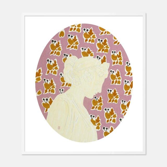 Theresa Drapkin September by Theresa Drapkin in White Frame, Medium Art Print For Sale - Image 4 of 4