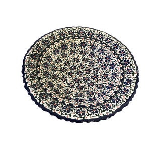 "Ottoman Iznik Carnation Pattern Plate 10"" D For Sale"
