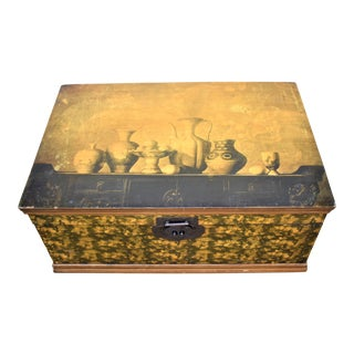 1970s Asian Style Faux Painted Chest For Sale