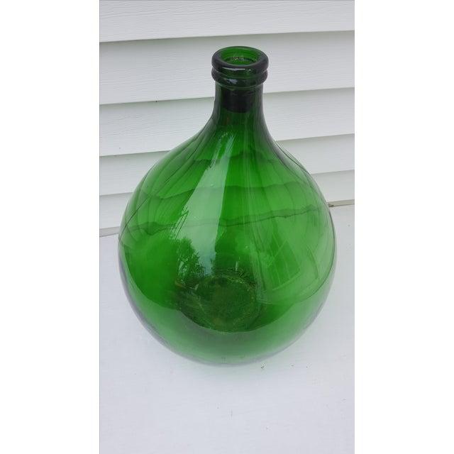 French Green Demijohn Wine Bottle - Image 2 of 3