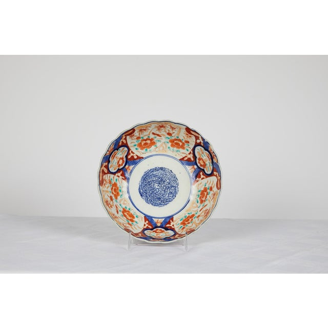 Early 20th Century Japanese Imari Scalloped Bowl For Sale - Image 10 of 11