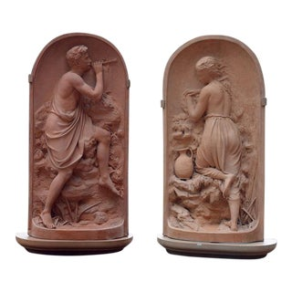 Martin Brothers Terra Cotta Plaques For Sale