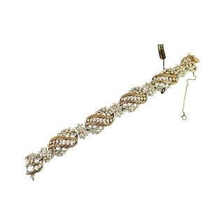 Trifari Floral Crystal Bracelet, 1950s For Sale