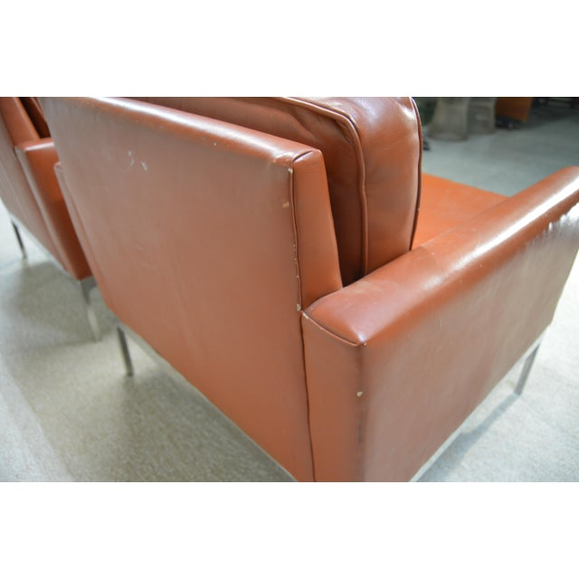 Nicos Zographos Soft Leather Club Lounge Chairs - a Pair For Sale In Philadelphia - Image 6 of 6