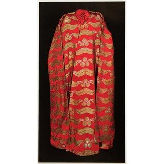 "Rare ""Silk Brocade Kaftan of Sultan Murad Sixth"", Original 1940s Gold-Foiled Swiss Photogravure For Sale"
