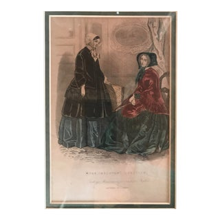 Godey's Americanized Fashion Plates Framed Engraving For Sale