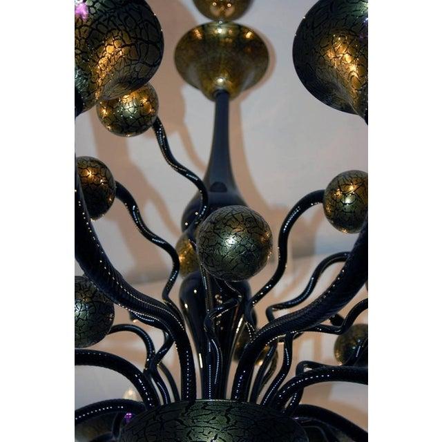 Italian Venetian Murano Glass Chandelier by Signoretto For Sale - Image 3 of 4