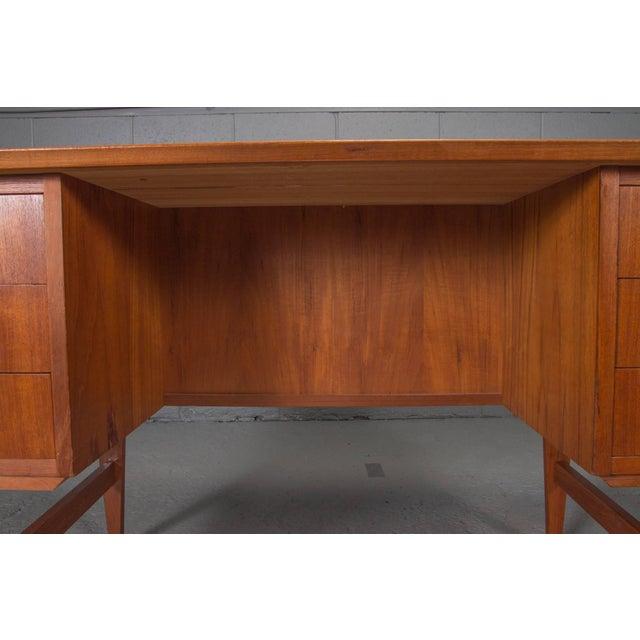 Teak Danish Modern Teak Desk For Sale - Image 7 of 10
