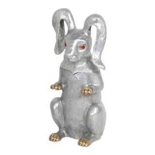 Arthur Court Rabbit Wine Cooler or Ice Bucket For Sale
