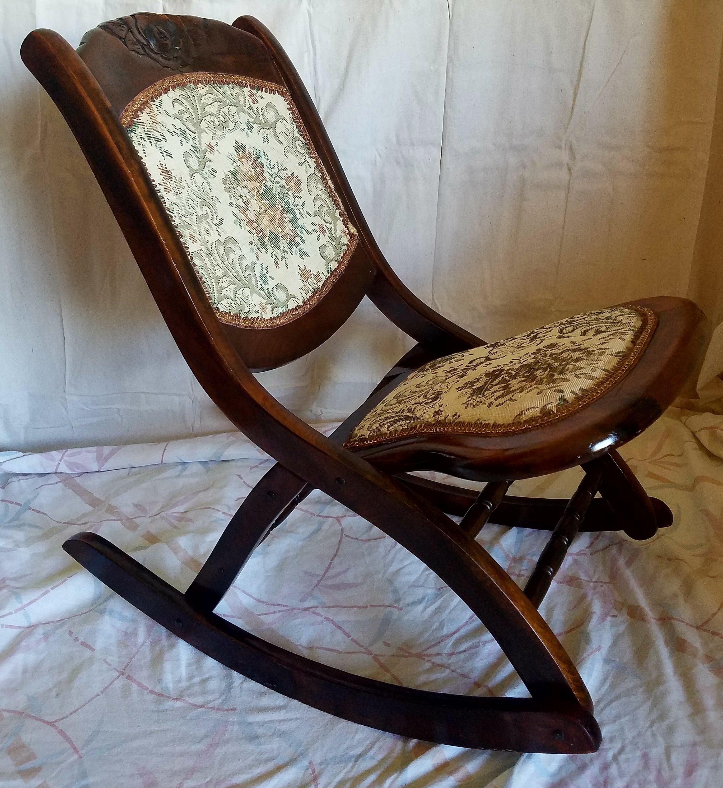 antique folding rocking chair Antique Folding Rocking Chair   Chairish antique folding rocking chair
