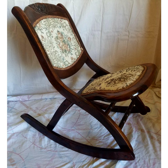 Antique Folding Rocking Chair - Image 4 of 9 - Antique Folding Rocking Chair