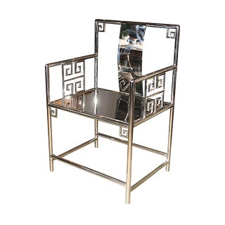 Contemporary Chinese Stainless Steel Armchair For Sale