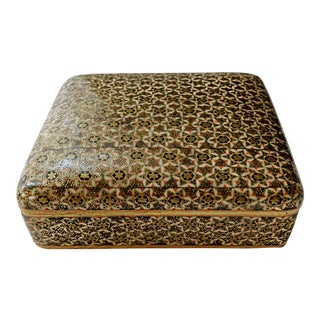 Vintage C1930s Persian Khatam Micro Mosaic Jewelry Box For Sale