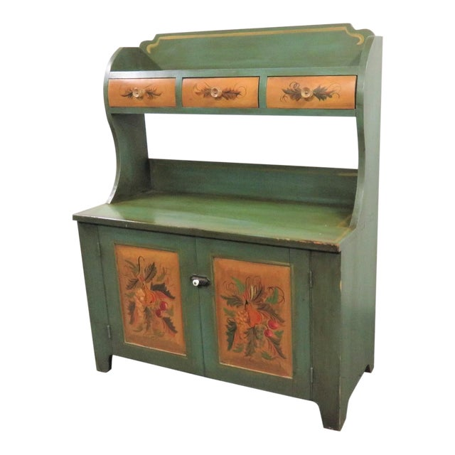 Admirable Primitive Paint Decorated Style Bucket Bench Bralicious Painted Fabric Chair Ideas Braliciousco