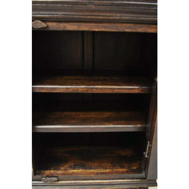 Wood Vintage British Colonial Style Small One Door Wooden Curio Display Cabinet For Sale - Image 7 of 12