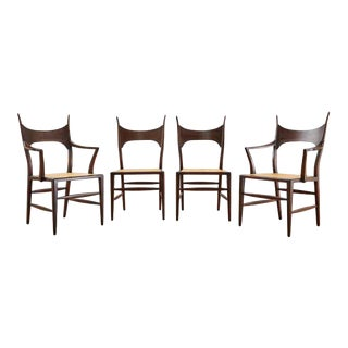 Set of Four Edward Wormley for Dunbar 5580 Dining Chairs For Sale