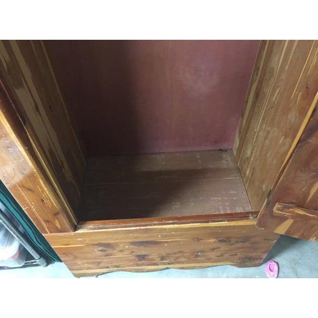 Vintage Cedar Armoire - Image 6 of 9