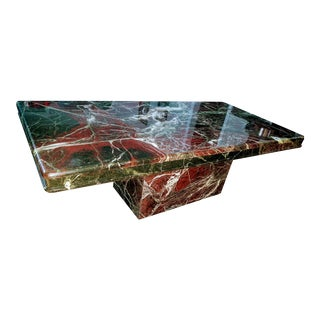 Vintage Art Deco Marble Coffee Table For Sale