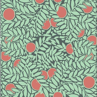 Mitchell Black Home Orange Grove Mint Peel & Stick Wallpaper For Sale