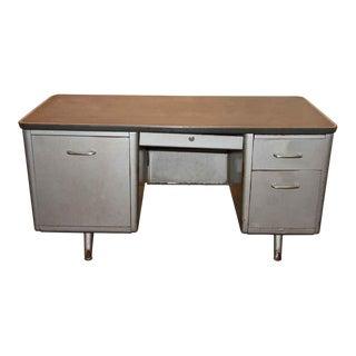 Metal Tanker Desk, 1950s For Sale