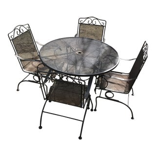 Vintage Russell Woodard Spring Bounce Chairs Dining Set For Sale