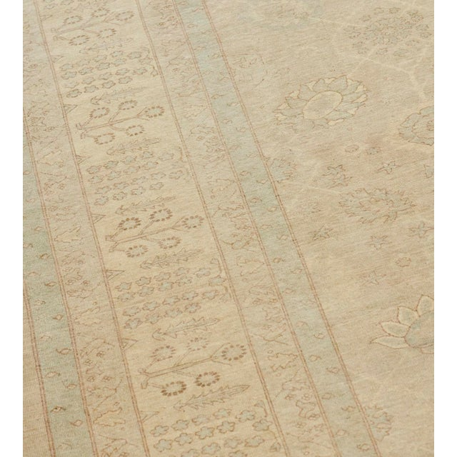 2000 - 2009 Handwoven Tabriz Style Wool Revival Rug For Sale - Image 5 of 8