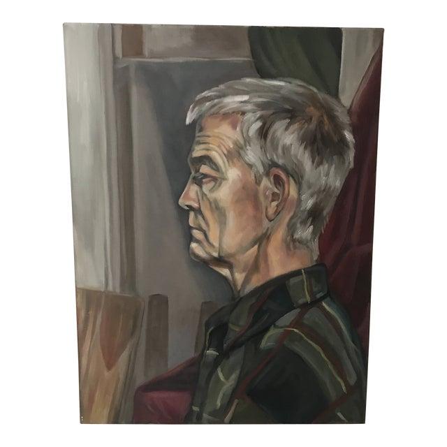 Original Oil Portrait of Man For Sale