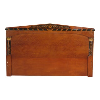 Colombo Italian Made Burl Walnut King Size Headboard For Sale