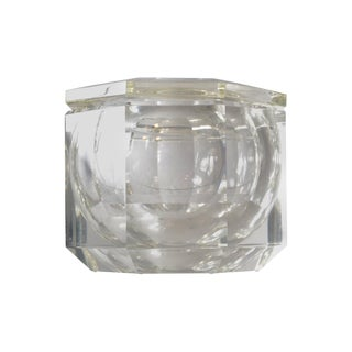 Fire Polished Lucite Ice Bucket For Sale