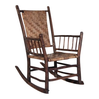 Vintage Adirondack Rocking Armchair
