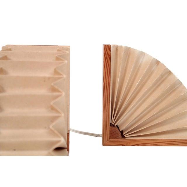 Wood Noah Slutsky Table Lamps - a Pair For Sale - Image 7 of 13