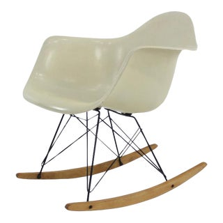 RAR Molded Fiberglass Rocking Chair by Charles and Ray Eames for Herman Miller For Sale