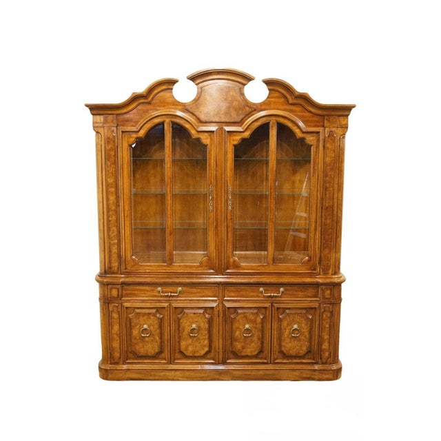 """Thomasville Furniture Contessina Collection 72"""" Lighted China Cabinet For Sale - Image 13 of 13"""