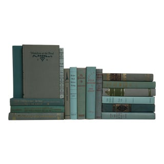 Mid Century Muted Novels in Green - Set of 20