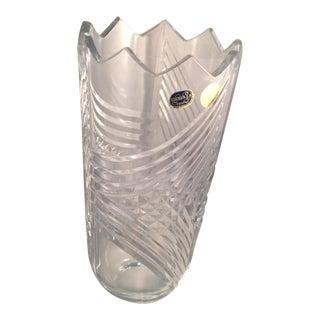 1990s Bohemia Crystal Czech Republic Vase For Sale