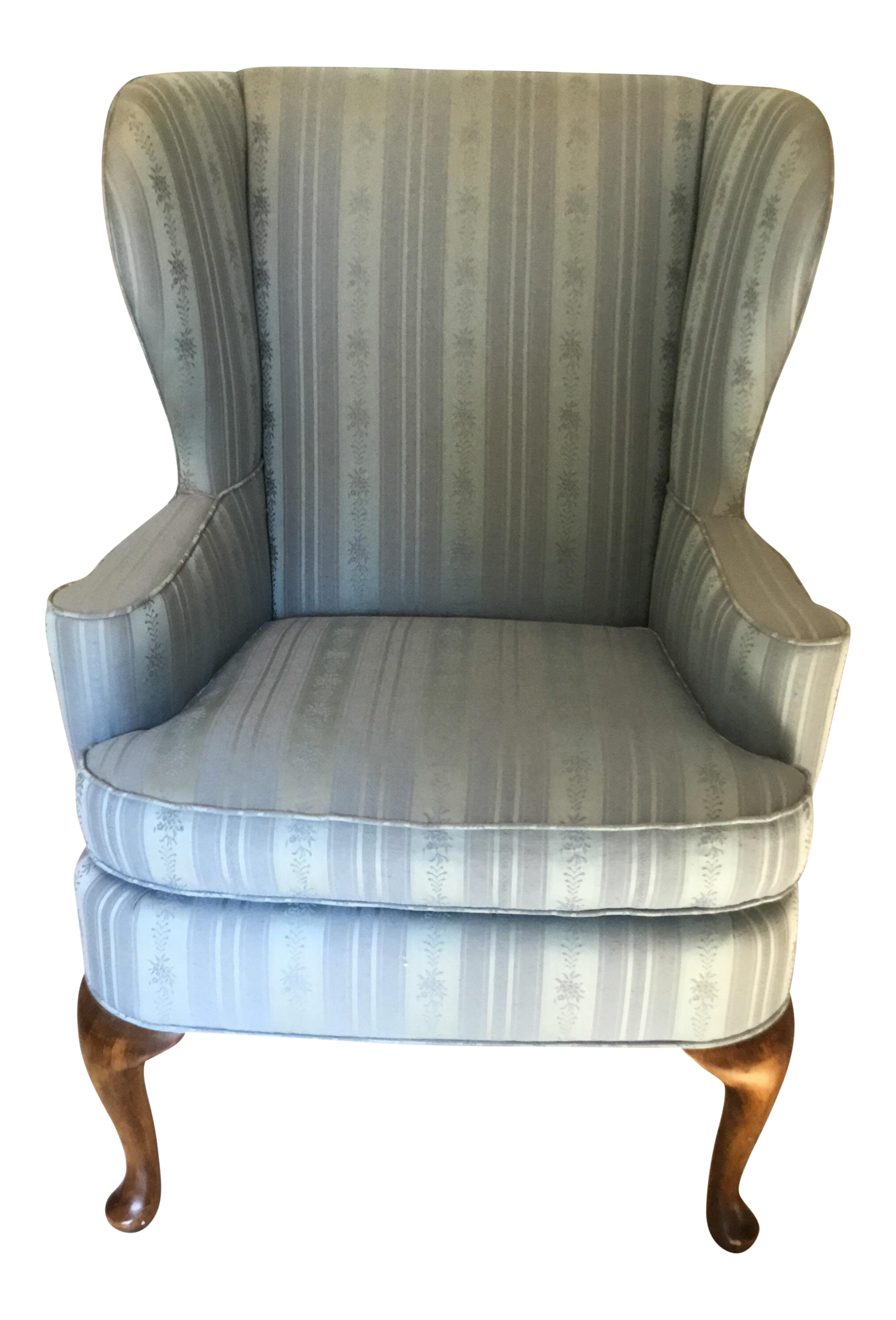 blue wingback chair. 1970s Traditional Baker Furniture Company Baby Blue Wing Back Chair Wingback C