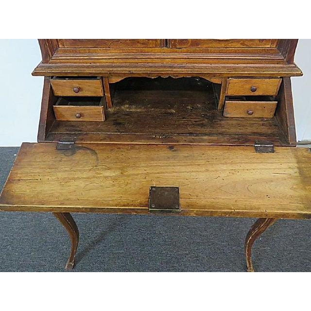 Louis XVI 18th C. Louis XVI Style French Inlaid Secretary Desk For Sale - Image 3 of 10