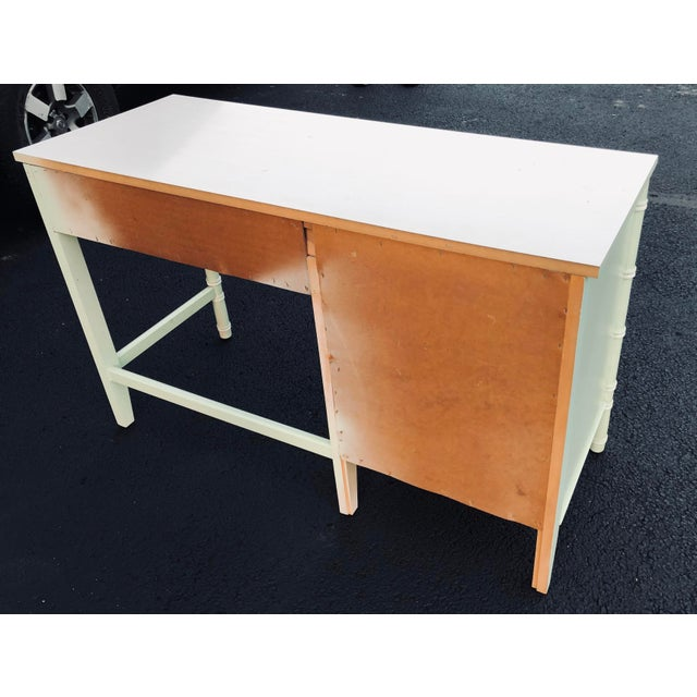 Faux Bamboo Thomasville Faux Bamboo Writing Desk For Sale - Image 7 of 9