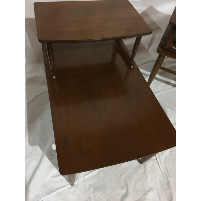 Danish Mid-Century Walnut End Tables - A Pair For Sale - Image 5 of 6