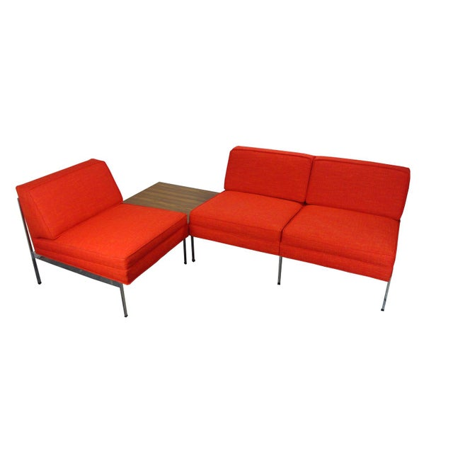 Mid-Century Modern Robert John Company Two Piece Chrome Sectional with Attached Side Table For Sale - Image 11 of 11