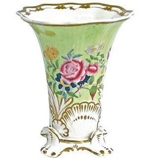 Porcelain Antique Flared Flower Vase For Sale