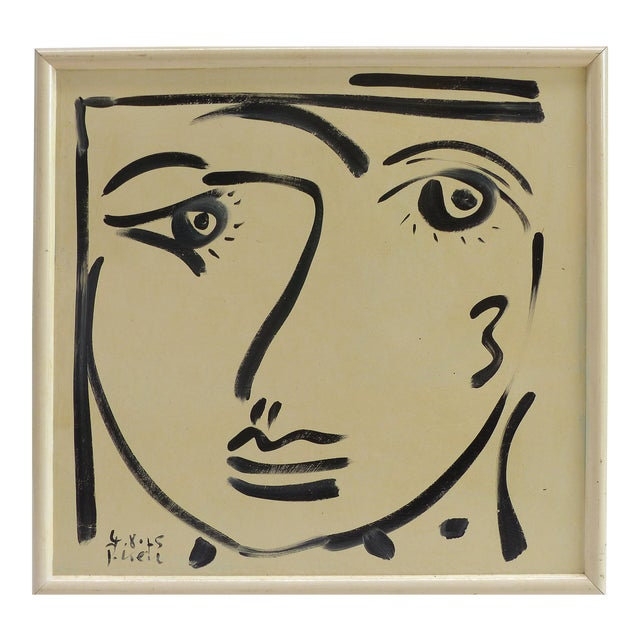 1976 Self Portrait Painting by Peter Keil For Sale