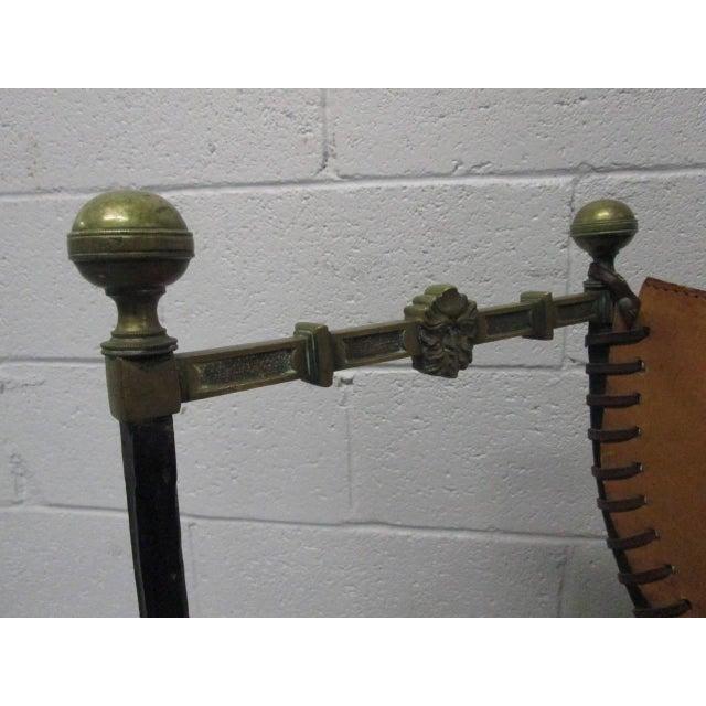 Italian Curule Savonarola Chair For Sale - Image 9 of 9
