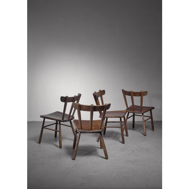 1950s Set of Four Scandinavian Dining Chairs For Sale - Image 5 of 6